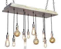 Industrial Chandelier Lighting Bare Bulb Pendant Light Fixture With Rustic Industrial Chandelier