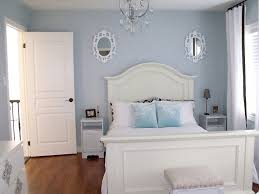 charming spare bedroom ideas with elegant single bed also blue fur