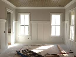 pine tongue and groove ceiling with 5 u0027 tall wainscoting i did in