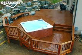 tub source deck designsdeck ideas for designs with and pergola