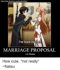 Meme Marriage Proposal - i ve found my chea marriage proposal lvl beater how cute not really