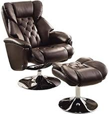 amazon com flash furniture contemporary brown microfiber recliner