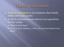excellent ideas for creating thesis statement powerpoint