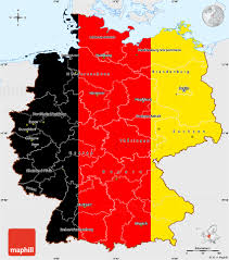Germany Map by Flag Simple Map Of Germany Single Color Outside Flag Rotated