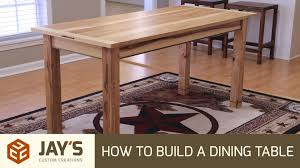 How To Build Outdoor Furniture by How To Build A Dining Table 242 Youtube