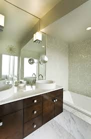 baroque magnifying mirror with light in powder room contemporary