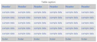 Html Table Title Html Table Css Generator Examples Web Design And Front End