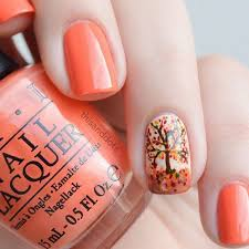 get your autumn on with this stunning fall inspired nail