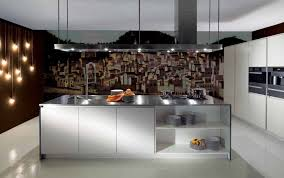 Contemporary Island Lights by Inspiring Kitchen Wall Decor Using Oil Painting And Wall Lights