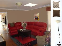 what paint colour and accessories match strawberry red lounge
