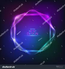 framework design sparkling neon banner multicolored bright framework stock vector