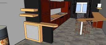 coin repas cuisine moderne projet 3 d cuisine ouverte avec coin repas darcy décoration