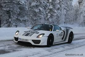 porsche winter porsche 918 spyder winter testing