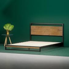 Wood Platform Bed Frames Shop Platform Beds Zinus