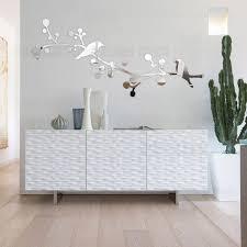 home salon decor diy double birds tree 3d mirror decorative wall sticker home salon