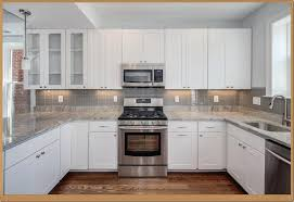 Cheap Ideas For Kitchen Backsplash White Kitchen Cabinets With Black Granite Countertops Images