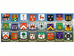 Family Crest Flags Family Crest Scroll Mugs Irish Scenery Background 2