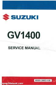 1986 1989 suzuki gv1400 cavalcade motorcycle service manual