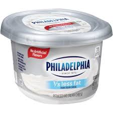 philadelphia light cream cheese spread philadelphia 1 3 less fat cream cheese 12 oz walmart com