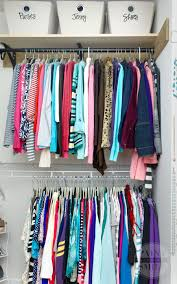 How To Organize Clothes Without A Closet Easy Closet Space Solutions On A Budget Paint Yourself A Smile