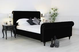 Bedroom Decorating Ideas With Sleigh Bed Bedroom Awesome Dark Tufted Sleigh Bed Design With White Sheets
