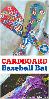 cardboard baseball bat kids craft creative family fun