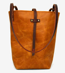 Handmade Leather Tote Bag - small narrow leather tote bag leather bags 2016 02