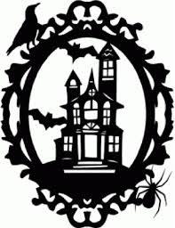 halloween house clipart spookymanor silhouettes pinterest haunted houses and silhouettes