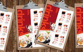 sushi restaurant menu template pack brandpacks