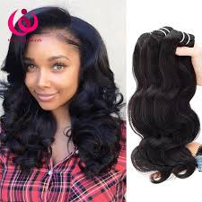 sew in 8a unprocessed human hair brazilian body wave sew in soft and