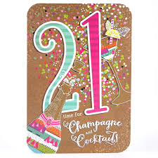 personalised 21st birthday cards