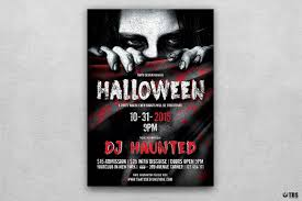 halloween flyer template psd v5 customizable with photoshop