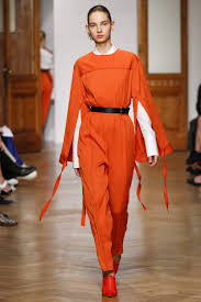 orange looks fashion week ss 2017 inspiration by color