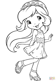 princess strawberry shortcake coloring page free printable