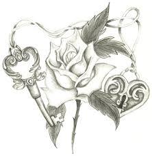 lock key n drawing
