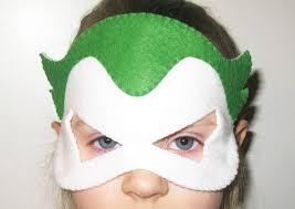 joker superhero felt mask green white kids superman