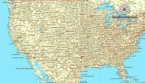 Blank Map Usa Reference Map Showing Major Highways And Cities And Roads Of