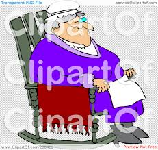 Old Man In Rocking Chair Royalty Free Rf Clipart Illustration Of A Relaxed Old Woman