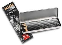 caran d u0027ache grafwood tin 6 graphite sketching pencils