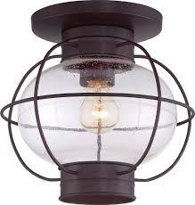 Outdoor Porch Ceiling Light Fixtures Quoizel Cor1611cu Cooper Vintage Copper Bronze Outdoor Ceiling