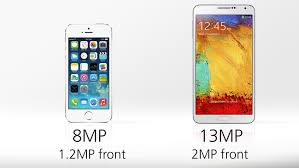 iphone 5s megapixels iphone 5s vs galaxy note 3