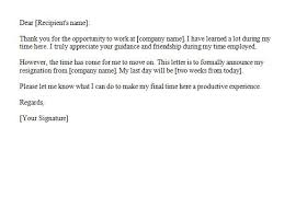 letter of resignation 2 weeks notice zenmedia jobs