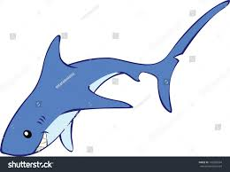 thresher shark vector cartoon illustration stock vector 143305564