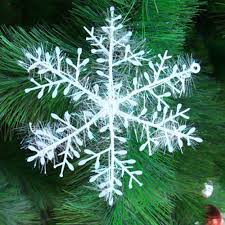 30pcs kits christmas tree white snowflake charms holiday party