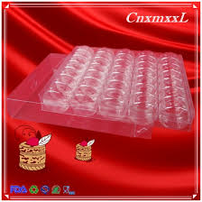 top 35 pcs plastic blister clear lid and clear base macaron tray