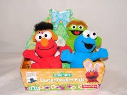 sesame easter basket elmoandfriends sesame stret plush dolls fisher price easter