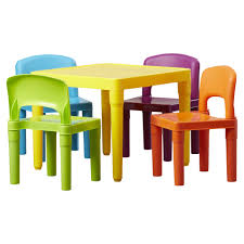 plastic table with chairs 49 table and chair set plastic 5 piece table set kids and