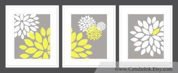 wall decoration yellow and grey wall decor lovely home