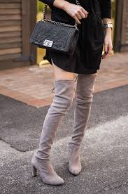 s knee boots uk grey suede the knee boots from the fashion bible uk