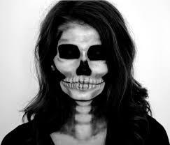 cappuccino and fashion skeleton halloween makeup tutorial